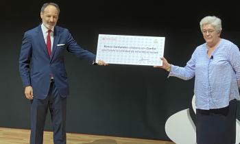 La CONFER entrega en colaboración con el Banco Santander más de 400.000 euros para 15 proyectos solidarios