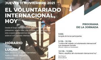 Jornada de encuentro y formación sobre voluntariado internacional