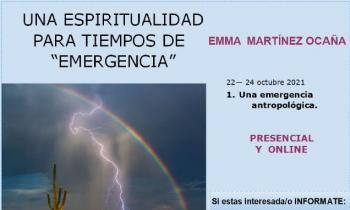 Encuentro con Emma Martínez Ocaña para hablar de espiritualidad en tiempos de emergencia