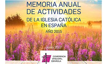 La Conferencia Episcopal Española ha presentado la Memoria de actividades de la Iglesia católica en España de 2015
