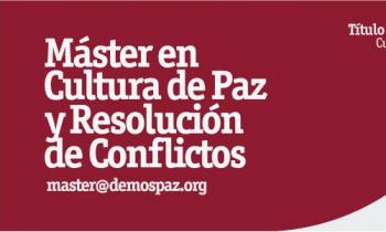Máster en Cultura de Paz y Resolución de Conflictos