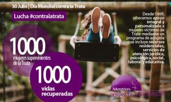 Día Mundial contra la Trata   1000 MUJERES SUPERVIVIENTES DE LA TRATA, 1000 VIDAS RECUPERADAS
