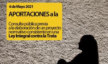 Aportaciones de las Adoratrices para la aprobación de la Ley Integral de Prevención de la Trata de Seres Humanos