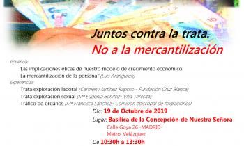 Cartel Día Europeo contra la Trata 2019